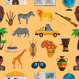 Africa Seamless Pattern Royalty Free Stock Image