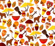 Africa seamless pattern Royalty Free Stock Photo