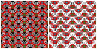 Africa set - two patterns. Two seamless african patterns set Royalty Free Stock Photo