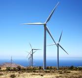 africa silniki wiatrowi i niebo wewnątrz są Obraz Stock
