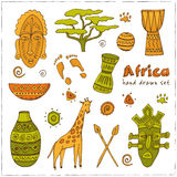 Africa sketch icons set Royalty Free Stock Photography