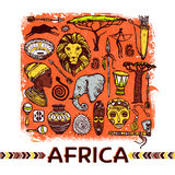 Africa Sketch Illustration Stock Images