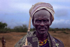 Africa,  south Ethiopia, Arbore tribe Royalty Free Stock Image
