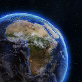 Africa from space Royalty Free Stock Photo