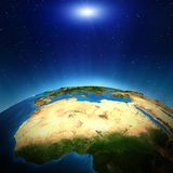 Africa from space. Elements of this image furnished by NASA Stock Images