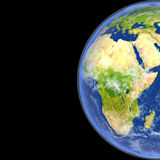 Africa from space. Satellite view of Africa on planet Earth. 3D illustration with detailed planet surface. Elements of this image furnished by NASA Royalty Free Stock Photo