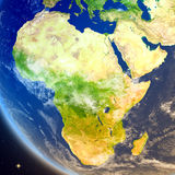 Africa from space. Satellite view of Africa on planet Earth. 3D illustration with detailed planet surface. Elements of this image furnished by NASA Royalty Free Stock Image
