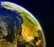 Africa from space. Satellite view of Africa on planet Earth. 3D illustration with detailed planet surface. Elements of this image furnished by NASA Stock Image