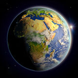 Africa from space at twilight Royalty Free Stock Photography