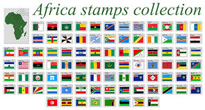Africa stamps collection Stock Images
