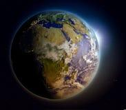 Africa at sunrise Stock Image