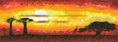 Africa sunset Royalty Free Stock Image