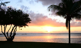 Africa,sunset in Mont Choisy in Mauritius Royalty Free Stock Photography
