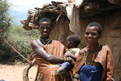 Africa,Tanzania, families people Datoga royalty free stock photo