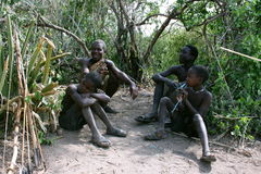 Africa,Tanzania Hadzabe Tribe Royalty Free Stock Photos