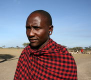Africa,Tanzania man masai boss tribe Stock Photography