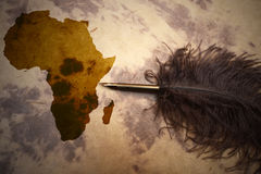 Africa - terra incognita Royalty Free Stock Image