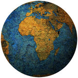 Africa territory on globe map Stock Photos