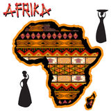 Africa traditional map Stock Photography
