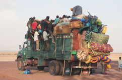 africa transport Royaltyfria Bilder