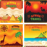 Africa Travel Web Banners Set Royalty Free Stock Photography