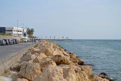 africa udd fotograferade stenig söder västra shoreline Fotografering för Bildbyråer