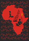 africa urinnevånare Royaltyfri Bild