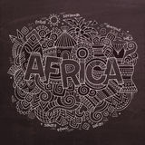 Africa Vector hand lettering and doodles elements Stock Images