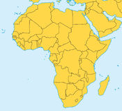 Africa vector map. Vector map of Africa with present political borders Stock Photo