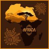 Africa - vector poster Stock Photos