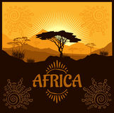 Africa - vector poster Royalty Free Stock Images