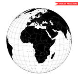 Africa view from space stock illustration
