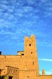 africa w histoycal maroc budowy starym niebie Fotografia Stock
