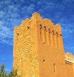 africa w histoycal maroc starej budowie i błękitnej chmurze Zdjęcie Royalty Free