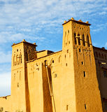 africa w Morocco o ld contruction i dziejowa wioska Obraz Royalty Free
