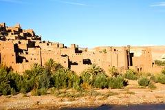 africa w Morocco palmowa wioska Obrazy Royalty Free