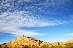 africa w Morocco stara wioska i contruction Obrazy Stock