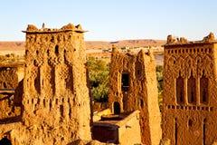 africa w Morocco starego contruction dziejowa wioska Zdjęcia Stock