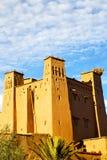 africa w Morocco starym contruction wiosce i Obrazy Stock