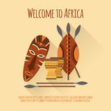 Africa welcome flat icon poster Stock Photo