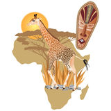 Africa Wildlife. Vector illustration of Africa wildlife Royalty Free Stock Images