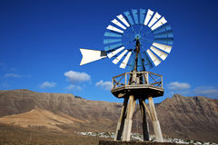 Africa windmills and the sky in  isle of l Royalty Free Stock Photo