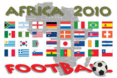 Africa - World Cup. Competition in 2010 vector illustration