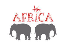 Africa writings Royalty Free Stock Images
