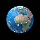 africa wyszczególniał wysoką Europe ziemską mapę Obrazy Stock