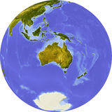 africa ześrodkowywał cieniącą kuli ziemskiej ulgę Obraz Royalty Free