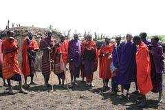 Africain continent de Mara de masai de tribu seulement Photographie stock libre de droits