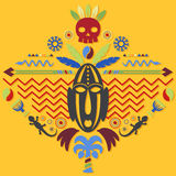 African Abstract Tribal Illustration Royalty Free Stock Photos