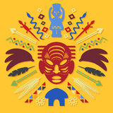 African Abstract Tribal Illustration Royalty Free Stock Images