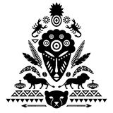 African Abstract Tribal Illustration Stock Image